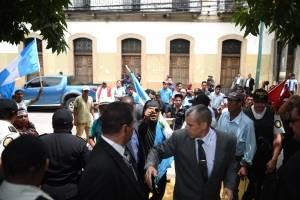 manifestación de la ASP en el Congreso