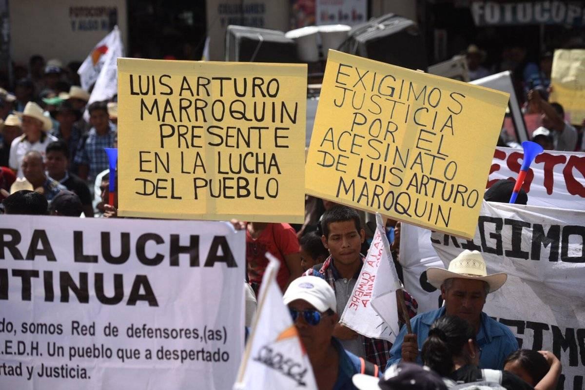 Codeca pidió el esclarecimiento de los asesinatos contra sus líderes campesinos. Foto: Edwin Bercián