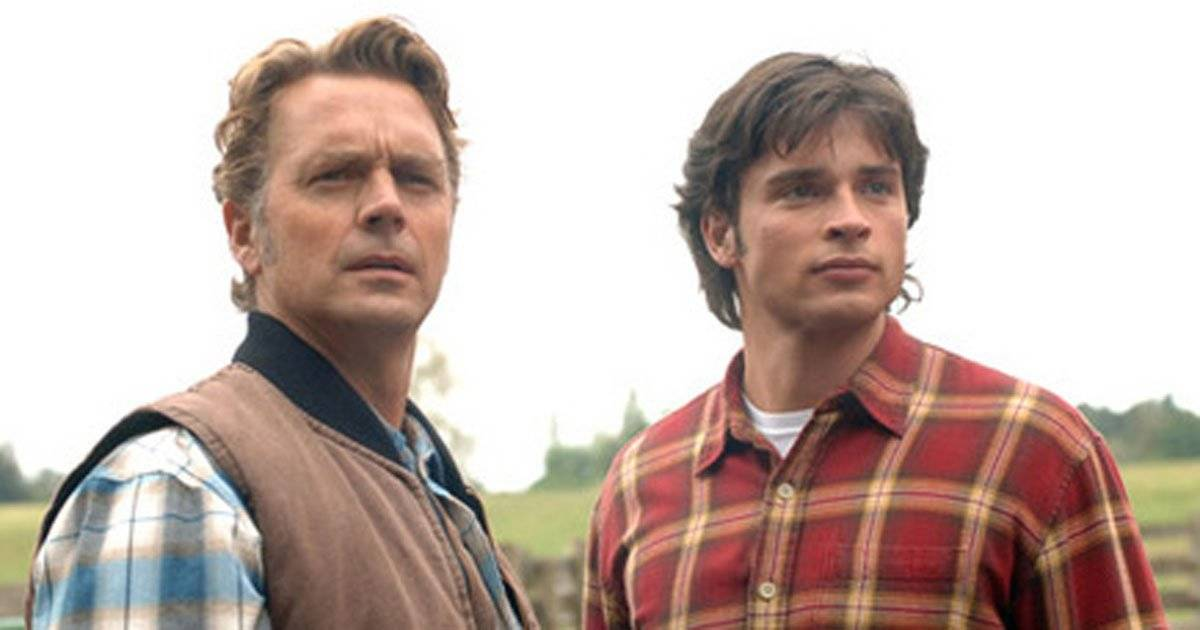 John Schneider e Tom Welling em Smallville