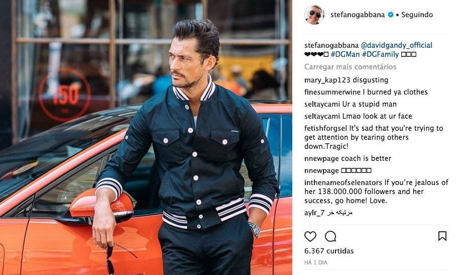 Stefano Gabbana é atacado por fãs de Selena Gomez