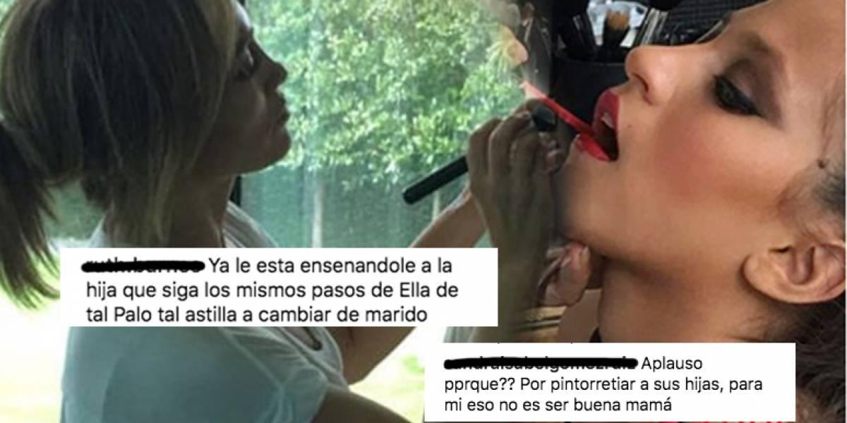 Critican fuertemente a Jennifer López por maquillar a su hija