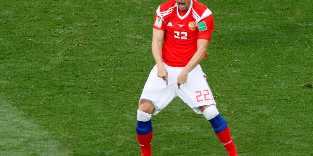 Rússia massacra a Arábia Saudita e marca 5 gols no primeiro jogo da Copa