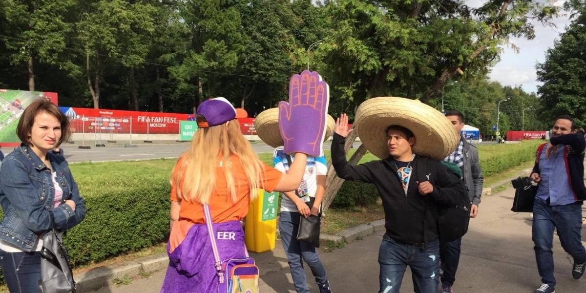 Fans arman la fiesta en la inauguración del Mundial Rusia 2018