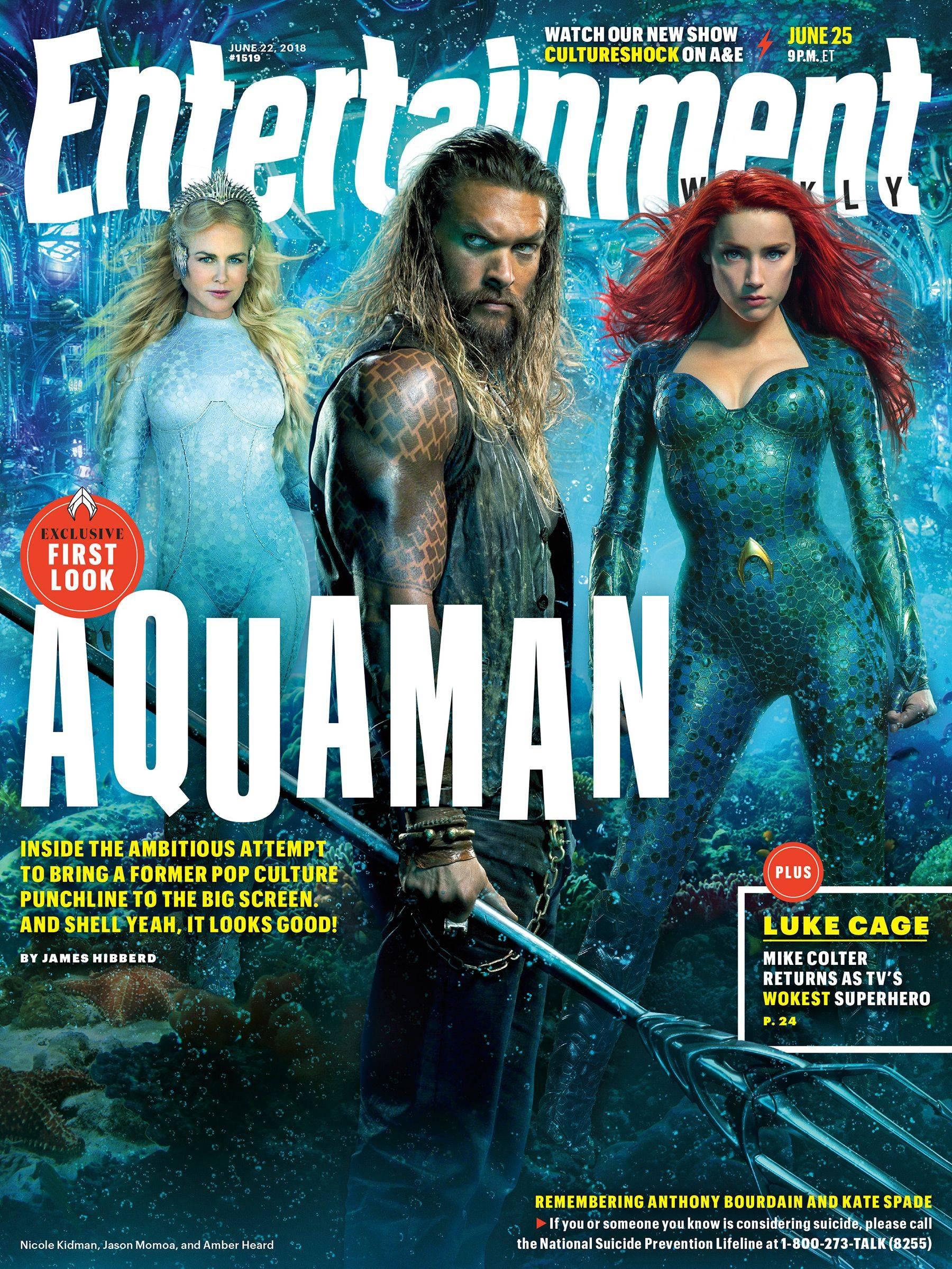 Aquaman Presenta A Black Manta, Orm Y Atlanna En Nuevas
