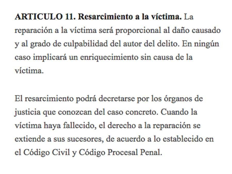 Artículo 11 Ley femicidio
