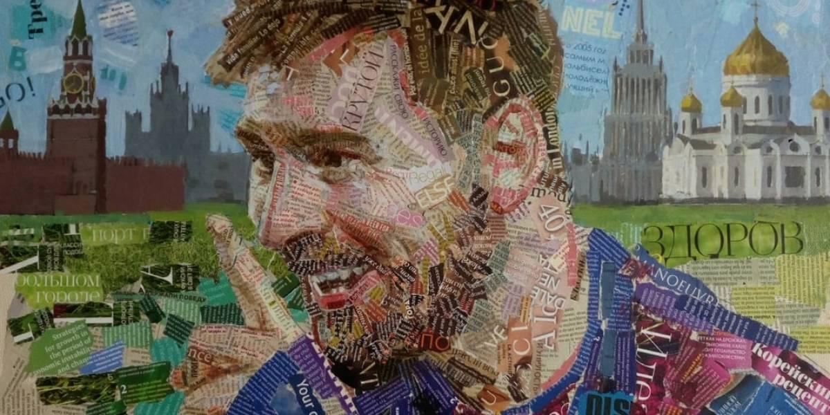 Artista usa fragmentos de revistas y periódicos para crear retratos de estrellas del Mundial