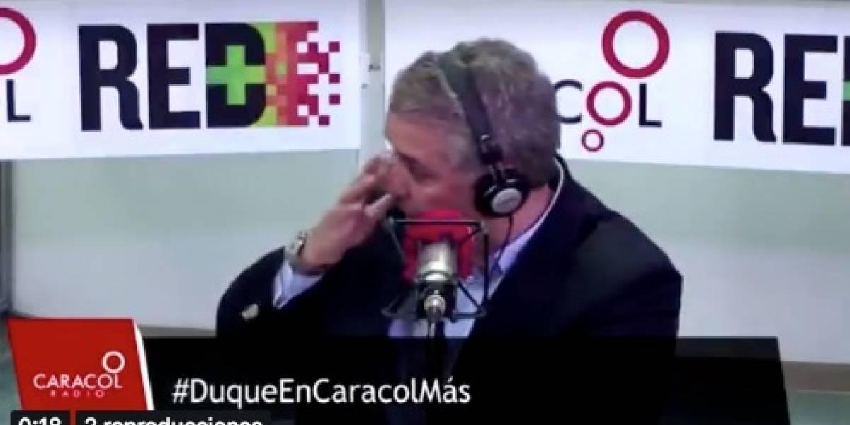 El audio que hizo llorar a Iván Duque en plena entrevista