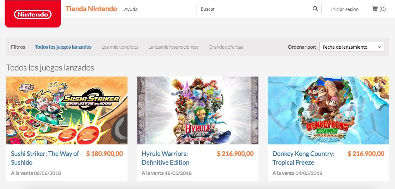 ¡La tienda de Nintendo finalmente llega a Colombia y Brasil!