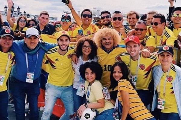 Famosos colombianos en el mundial