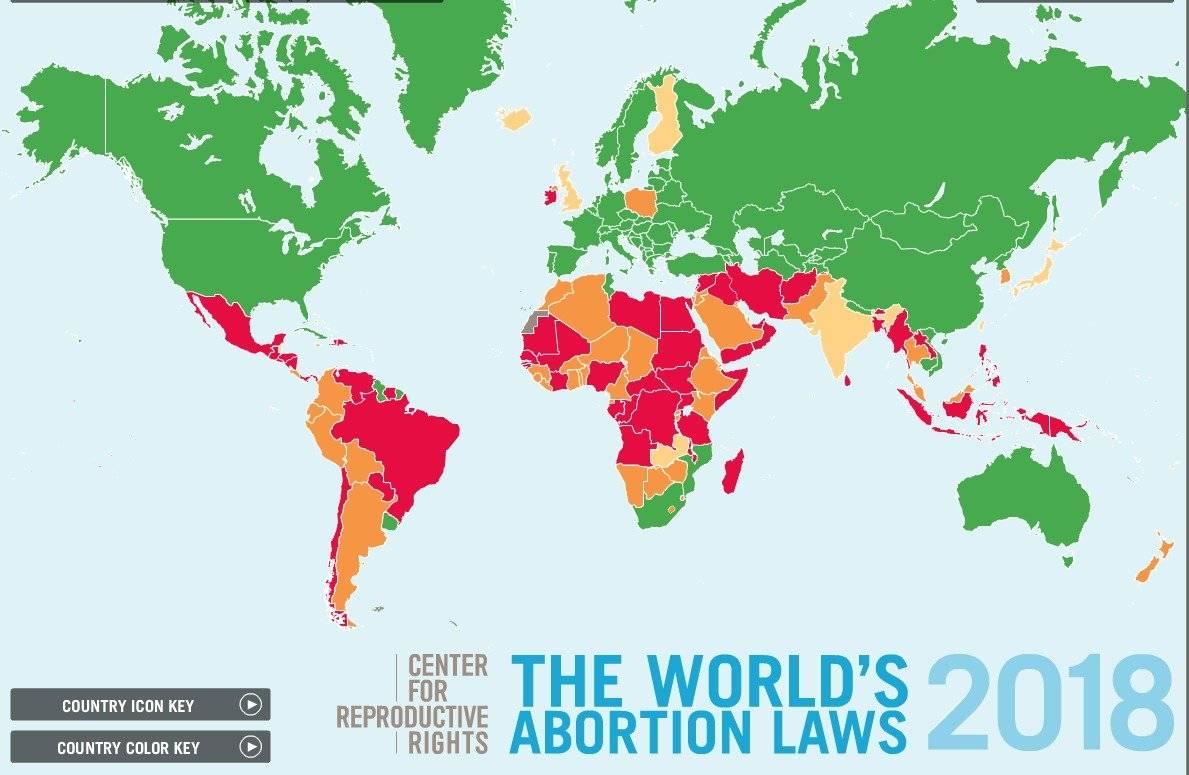 Estatus del aborto en el mundo