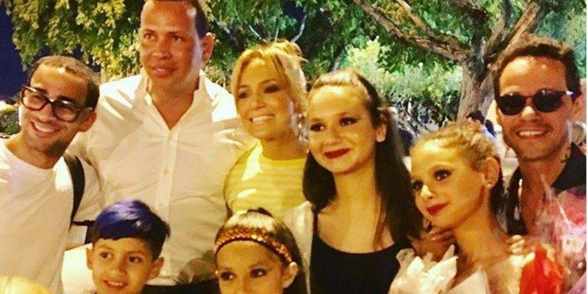 Hijas de Alex Rodríguez y Marc Anthony los juntan