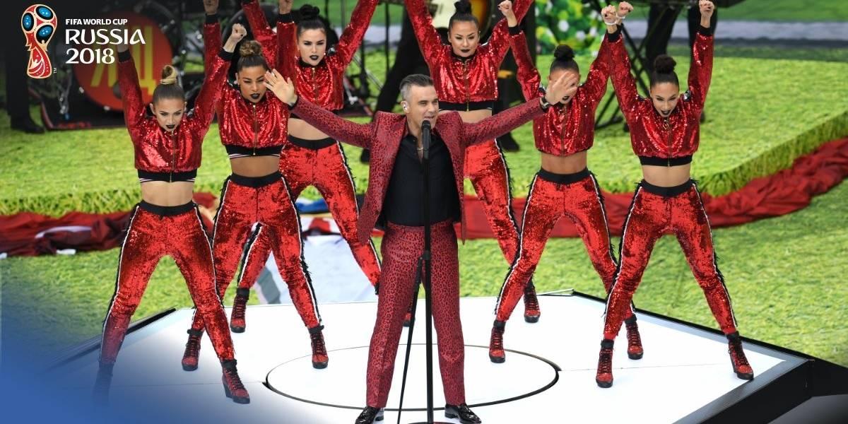 Memes, reacciones y el feo gesto de Robbie Williams en apertura Mundial de Rusia 2018