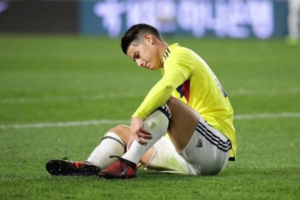 Estado de lesión de James Rodríguez para partido vs Japón