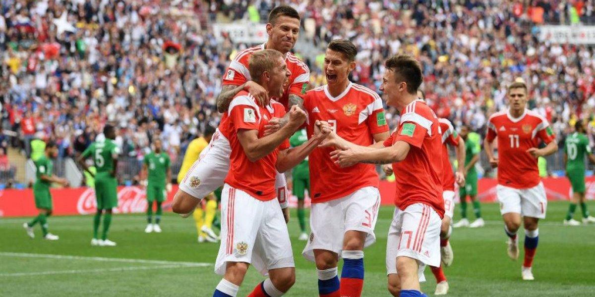 Rusia no necesitó mucho para golear al inexperto Arabia de Pizzi en el inicio del Mundial 2018