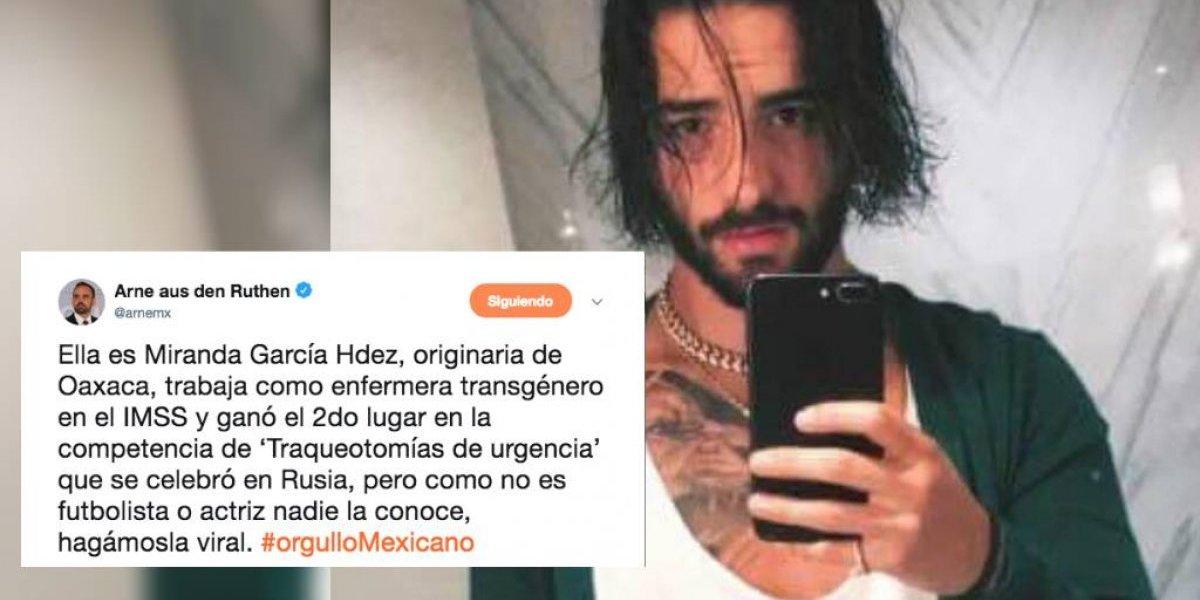 "Arne llama ""enfermera transgénero"" a Maluma en meme para Ebrard"