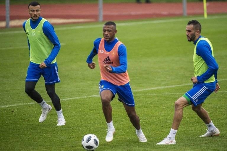 Jugadores de Marruecos durante un entreno previo al Mundial