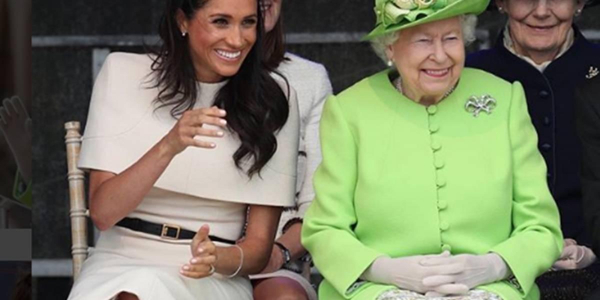 Meghan confió nuevamente en Givenchy para deslumbrar en su viaje con la Reina Isabel II