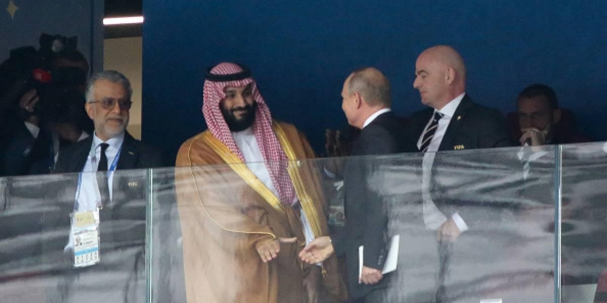 Vladímir Putin celebra la victoria de Rusia frente a Arabia Saudita