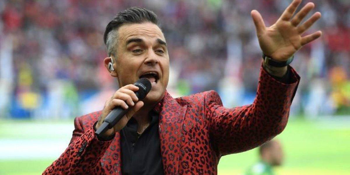 Robbie Williams inauguró el Mundial interpretando sus mejores hits