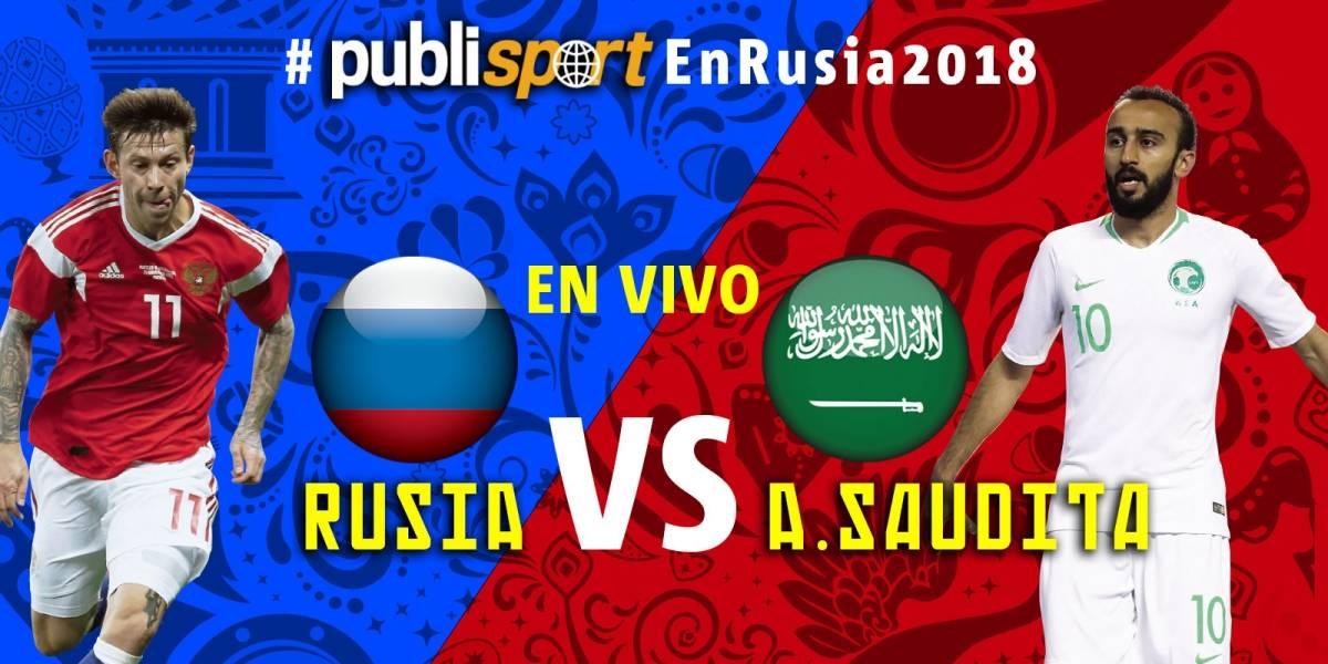 Rusia se impone por 5-0 ante Arabia Saudita en juego inaugural del Mundial