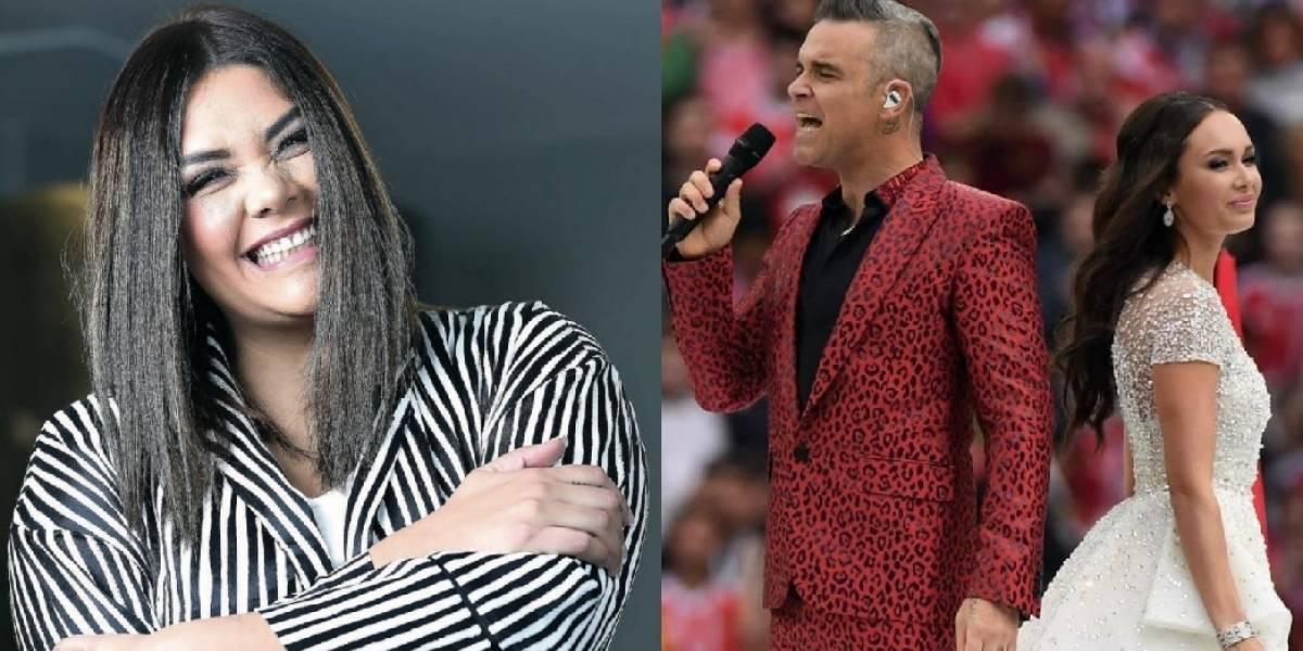 ¿Robbie Williams o Yuridia? Desatan polémica por inauguración del mundial