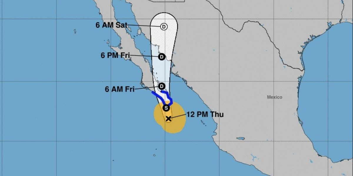 Tormenta Bud toca tierra en Baja California