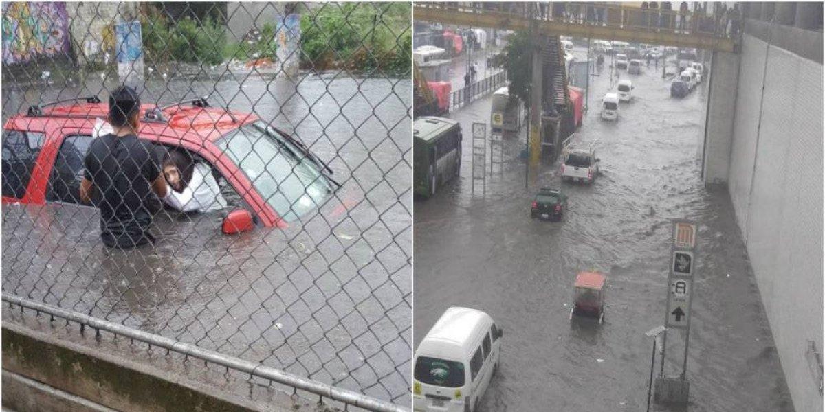 Lluvia e inundaciones colapsan calzada Ignacio Zaragoza