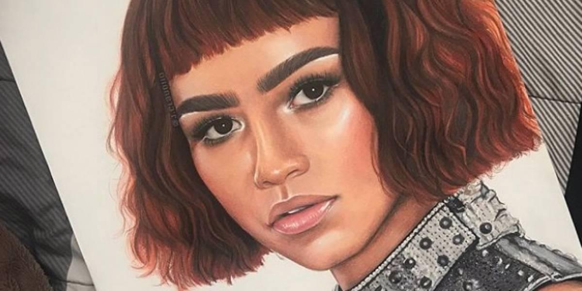 Zendaya reconoce trabajo artístico de estudiante boricua