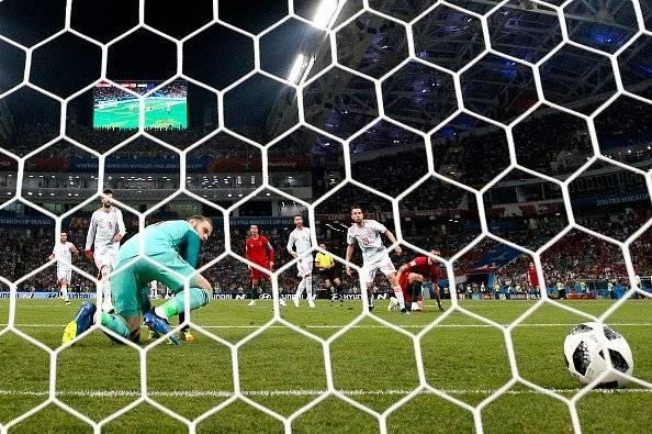 Segundo gol de Cristiano Ronaldo Getty Images