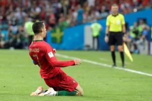 Celebración de gol de Cristiano Ronaldo