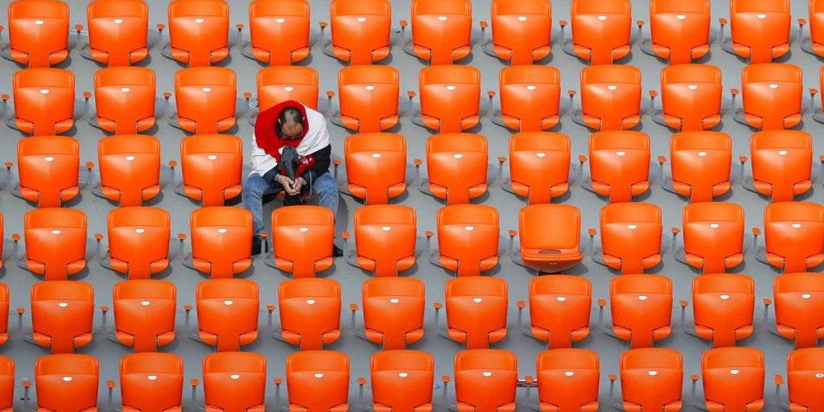 Uruguay y Egipto jugaron con miles de asientos vacíos