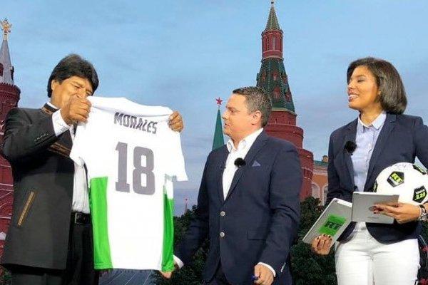 Evo Morales fue a la inauguración del Mundial de Rusia 2018