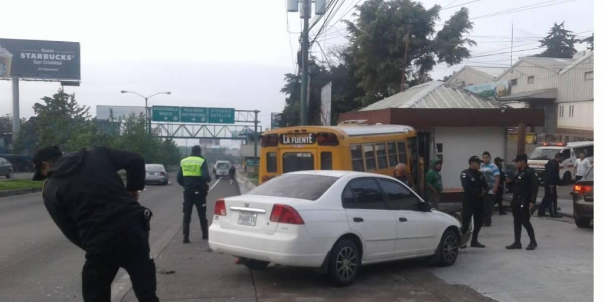 Incidentes complican la circulación vehicular en diferentes sectores