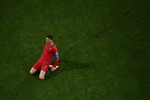 La celebración de CR7 tras uno de sus goles