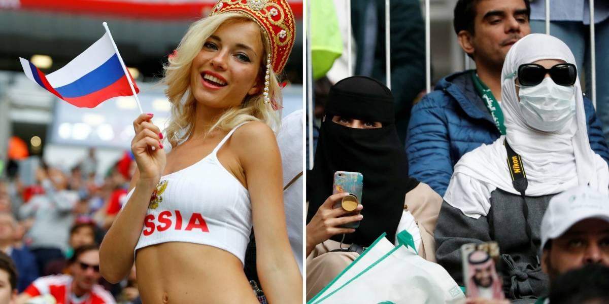 Copa do Mundo: Mulheres sauditas torceram de forma reservada em primeiro jogo do mundial