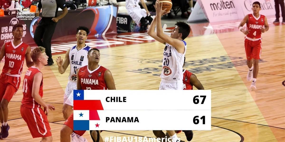Chile salvó su honor al vencer a Panamá y definirá el quinto lugar del torneo FIBA U18 de básquetbol