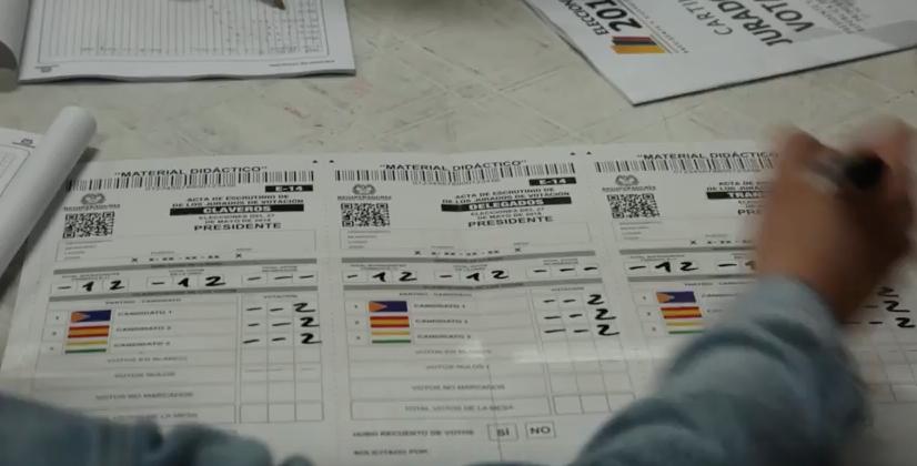 ¡Jurado de votación, pilas! Así debe diligenciar los formularios E-14 en la segunda vuelta