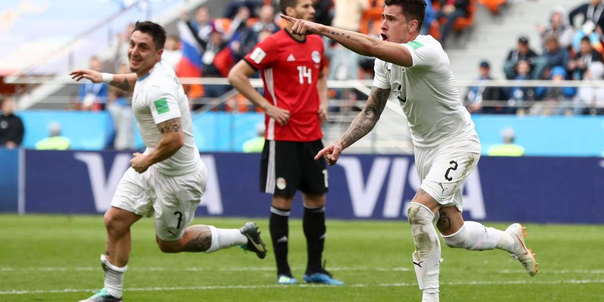 Uruguay le rezó a 'San José' María Giménez y ganó sobre el final