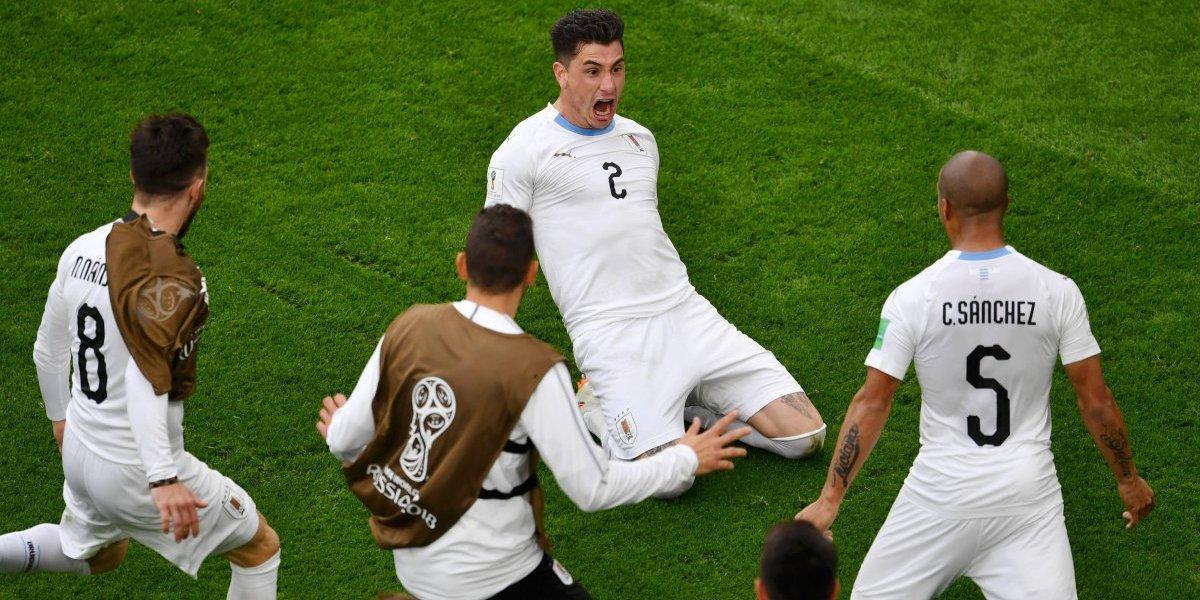 Uruguay rescata victoria de último minuto ante Egipto