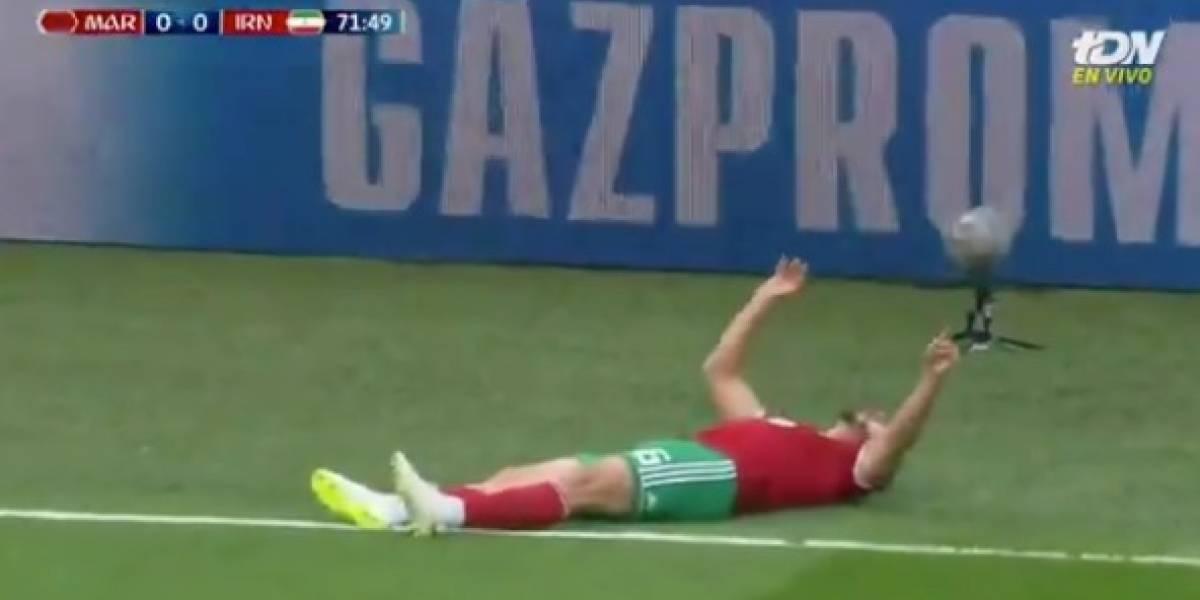 VIDEO: Jugador de Marruecos sufre conmoción en Mundial de Rusia