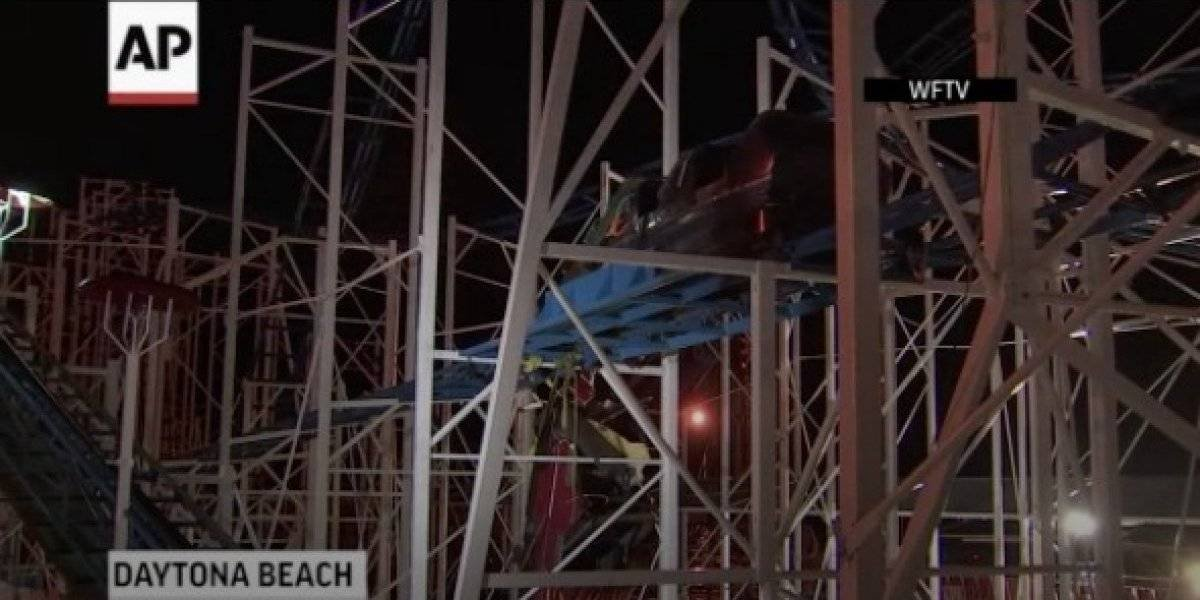 Dos personas resultaron heridas tras accidente en montaña rusa en Florida