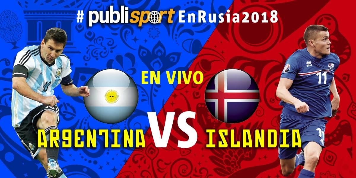 Islandia consigue empate histórico por 1-1 ante Argentina