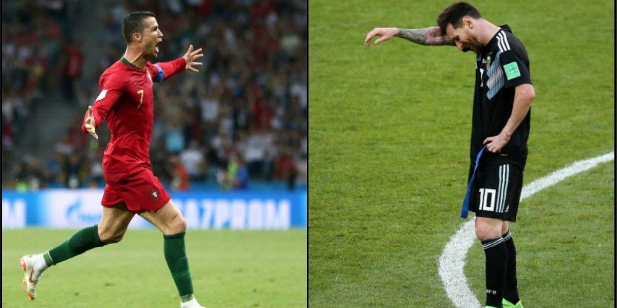 Cristiano goleó a Messi en el primer round de las superestrellas del fútbol en Rusia 2018