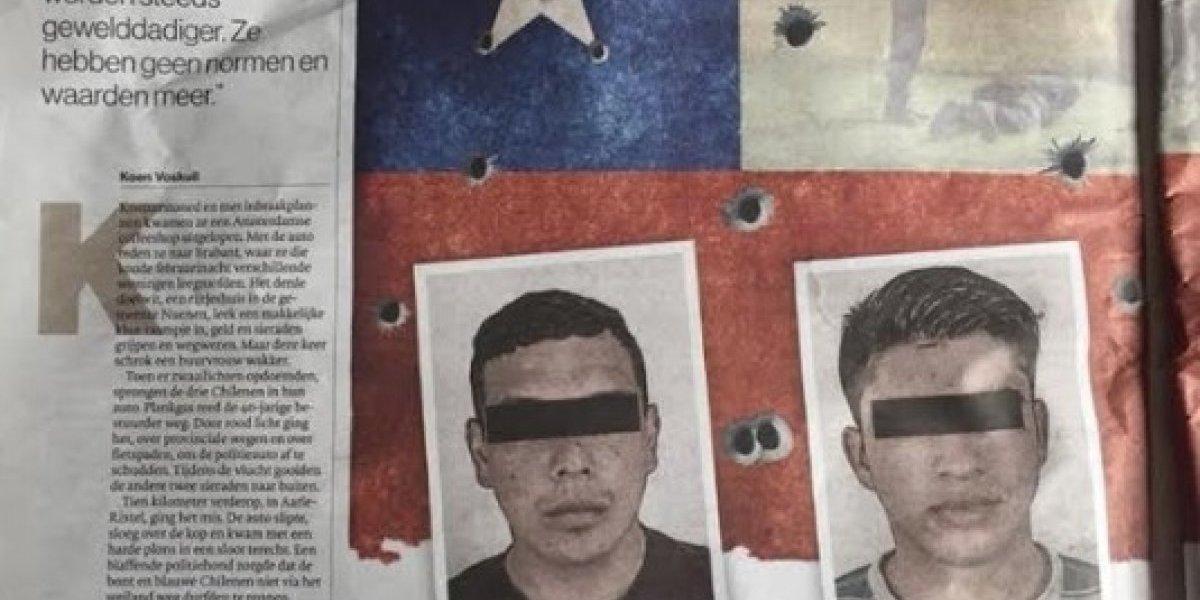 """""""Los mejores ladrones del mundo"""": principal diario holandés dedica extenso reportaje a ola de robos protagonizada por lanzas chilenos"""