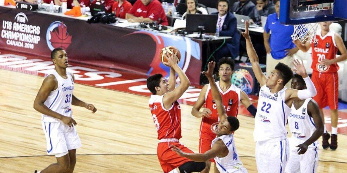 Chile U18 logró gran triunfo y finalizó quinto en el torneo Premundial de básquetbol