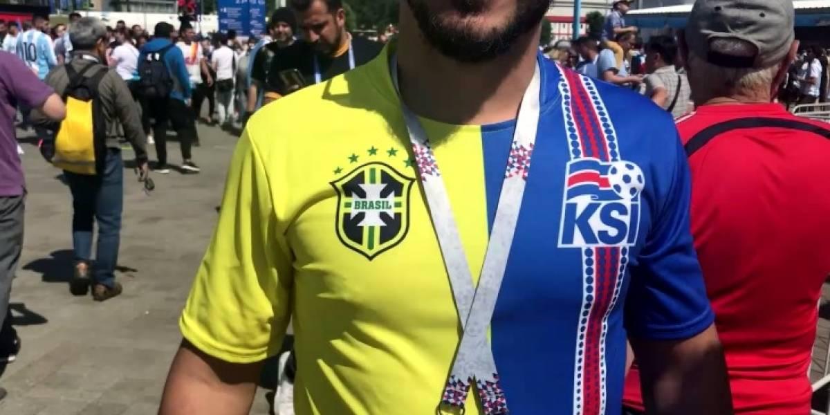 Locura en Rusia: hinchas de Brasil y de Islandia se juntaron para celebrar el empate con Argentina
