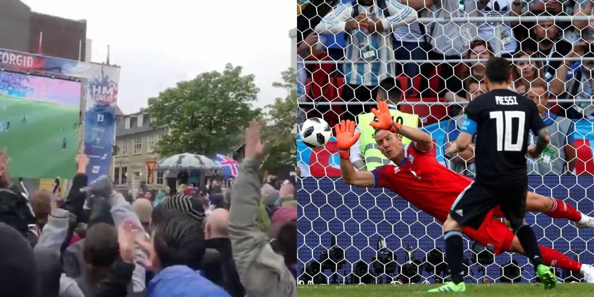 Así reaccionaron los hinchas de Islandia ante el penal fallido de Messi