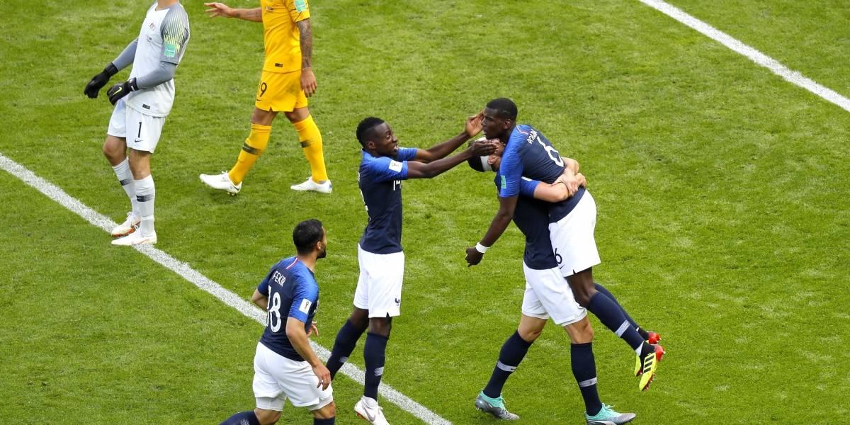 Francia se estrenó en el Mundial con un triunfo ante Australia gracias a la ayuda de la tecnología