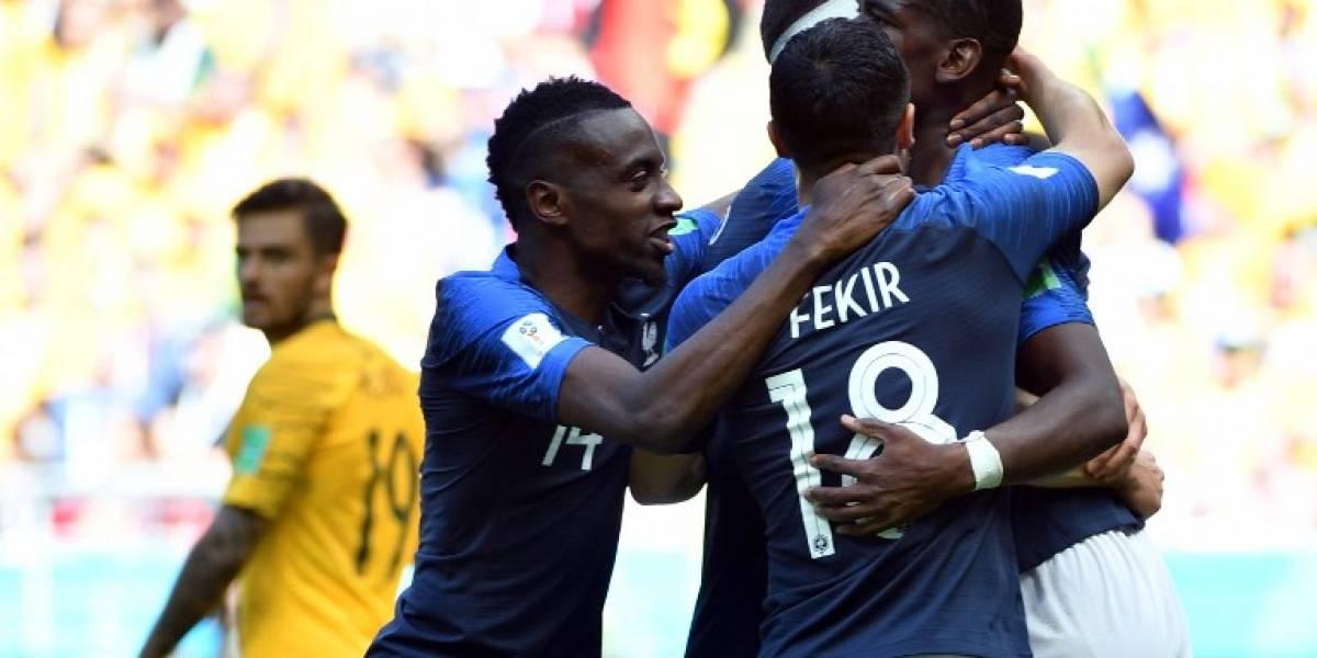 Francia confirma su favoritismo tras vencer a Australia con gol de Pogba