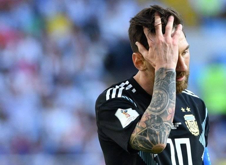 El lamento de Messi tras fallar el penal es evidente